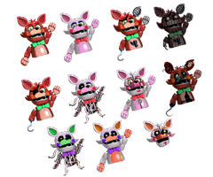 Foxy Puppets by TheGoldenGamer90010