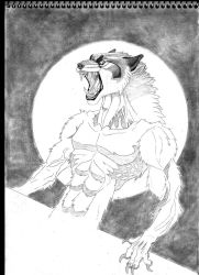 Werewolf in Pencil by TheRaevyn13