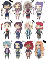 Naruto OC Adopts [ OPEN ] [ 800 POINTS ] by HONEYxPOISON