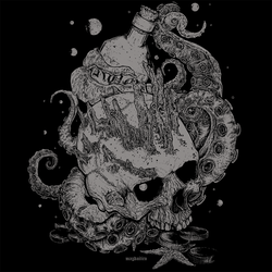 Deep sea skull with tentacles by Magdaitiro