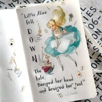 notes and sketches | Alice in wonderland by SimonaBonafiniDA
