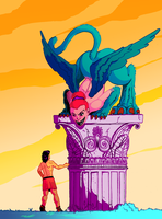 Oedipus and the Sphinx by Mercvtio