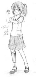 A girl with an artificial limb by pukpik99