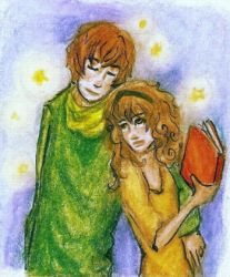 Ron and Mione for Sodaapop 101 by gilbird333