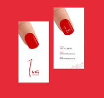 Business card for nails studio Iva by jozef89