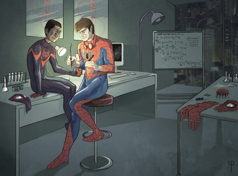 Peter and Miles by Phi8