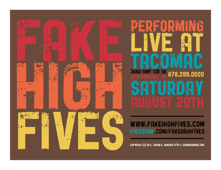 Flier for Fake High Fives 3 by ronamo