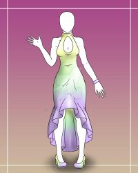 [OPEN] Fashion Adopt 4 - Easter Mermaid Dress 800p by Lyrizel