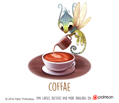 Daily Paint 1473. Coffae by Cryptid-Creations