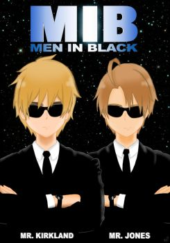 [Hetalia] Men In Black by FeriFairy