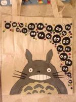 Totoro and soot sprites bag by me-and-jd