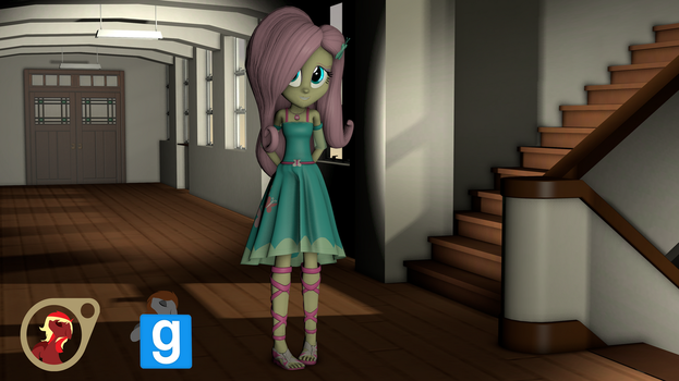 [EqG] Fluttershy from Shorts [SFM] [Gmod] by EmpireOfTime