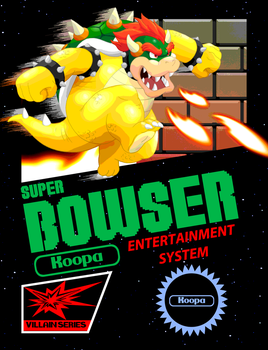 Super Bowser Game Cover by RetroUniverseArt