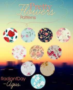 Pretty Flowers Patterns || Agusc: by RadiantDay