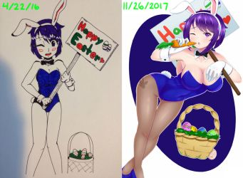 Playboy Bunny Redrawn by AceOfBros