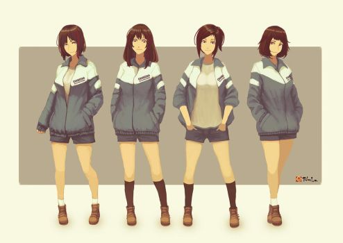 schoolgirls by Robce