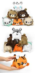 Lion, Tiger, and Bear Stacking Plushies by SewDesuNe