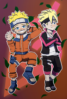 Naruto and Boruto Fanart by BagrL