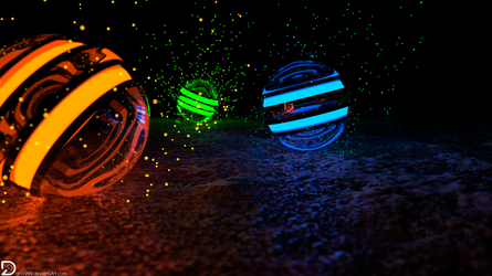 Spheres of Particles (4k and Full HD) by Dario999