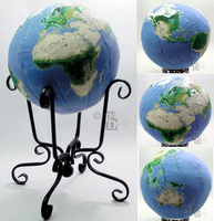 Earth Globe in 3D Cross Stitch by rhaben