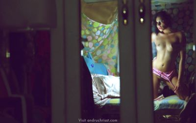 Katie Cruise in the mirror by auxcentral