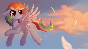 Rainbow Dash Wallpaper by Fensu-San