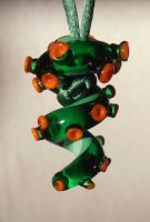 Squiggle tentacle christmas tree pendant in glass by fairyfrog