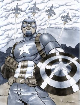 Captain America by graphitist