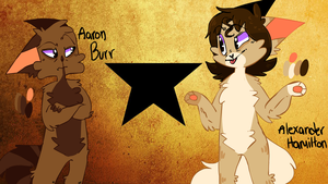 Alexander Hamilton and Aaron Burr ref by Keapoki