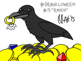 Drawlloween 11 - Raven by megawackymax
