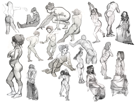 SVA life drawing 6 by foxcrusade