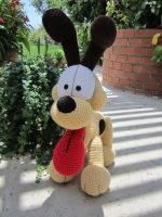 Crocheted Odie 2 by aphid777