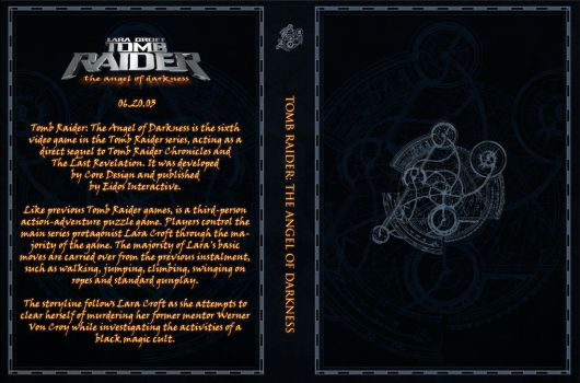 Tomb Raider The Angel of Darkness Custom Cover Art by Obscuriel