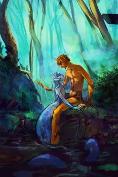 Satyr and the Siren [WIP2] by grimalkn