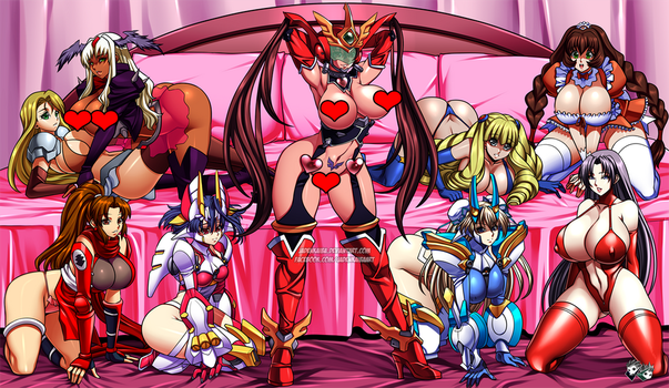 COMMISSION - Hentai Girls Harem by jadenkaiba