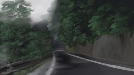 Background Speed Paint Practice 11.21.15 by Kiribbean