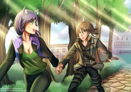 Collab Commission- To The Park! by ARSONicARTZ