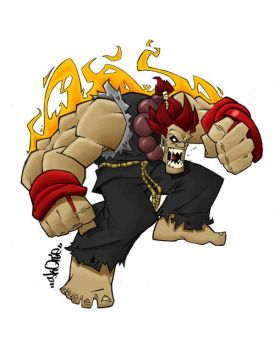 Skottie's Akuma Colored by deadlink83
