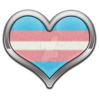 Transgender Pride Heart by lovemystarfire