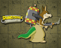 Dingodile Wallpaper by E-122-Psi