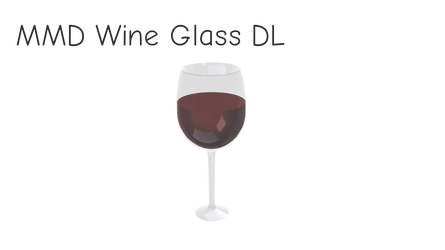 MMD Wine Glass [DL] by dokaa
