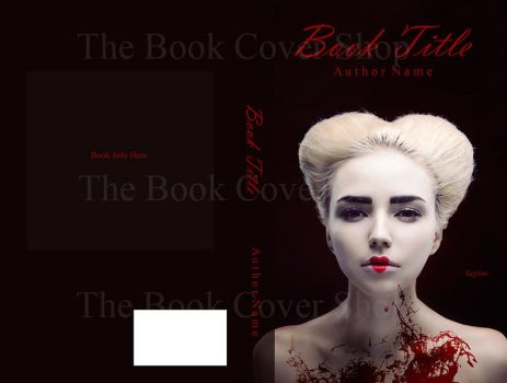 Red Bloody Queen of Hearts - book cover preview by LilyKarla