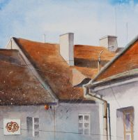 Roofs from Tykocin I by sanderus