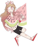 Bright Watermelon Summers Adopt [Auction OPEN] by spacemilkii