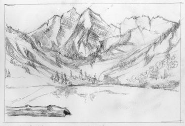 Commission - Rocky Mountains (wip) by KatyAmlie
