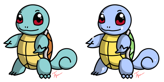 Pokemon #007 - Squirtle by Fyreglyphs