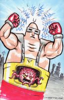 Krang Con Sketch by strickart