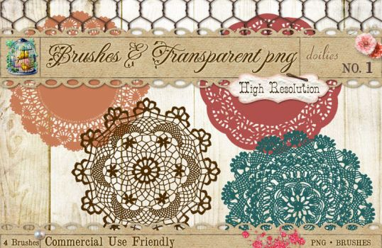 Doilies Brushes No 1 by starsunflowerstudio