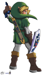 Link, the hero of time by Gregarlink10