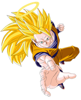 SSJ 3 Son Goku Render/Extraction PNG by TattyDesigns